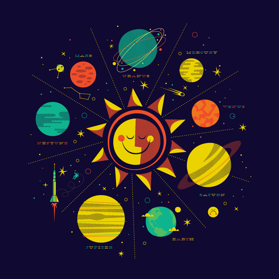 the solar system words cute font - photo #6