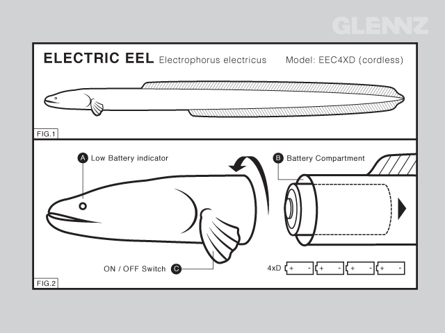 This electric eel is also cordless.