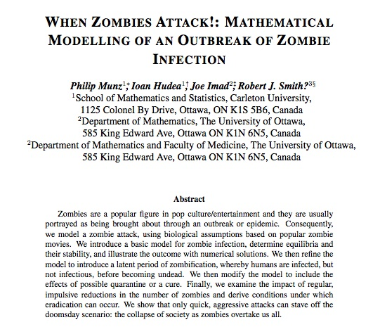 Research paper services zombies