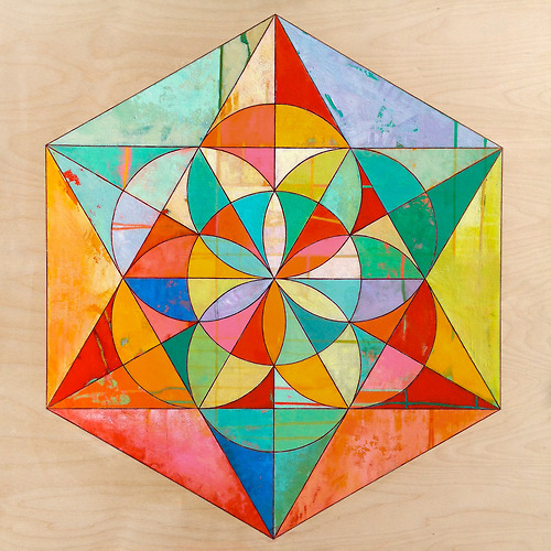 Beautiful and colourful geometric paintings by James Wyper |