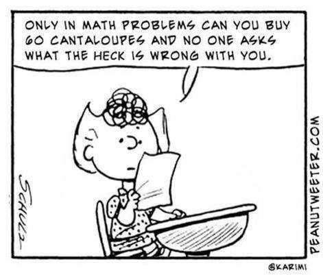 peanuts sally and the math word problem this is actually very insightful. Black Bedroom Furniture Sets. Home Design Ideas
